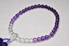 1111水晶・紫水晶7㎜グラデーション-001