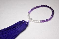1111水晶・紫水晶7㎜グラデーション-000