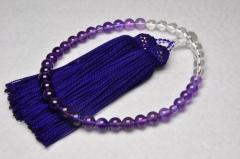 1111水晶・紫水晶7㎜グラデーション-002